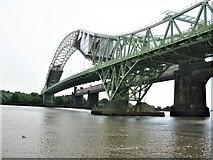 SJ5183 : Runcorn Widnes Road Bridge (Silver Jubilee Bridge) by G Laird