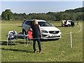 SJ8165 : Fence judges at Somerford Park Horse Trials by Jonathan Hutchins