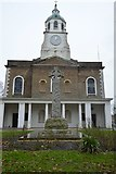 TQ2975 : Clapham Common War Memorial and Church of Holy Trinity by N Chadwick