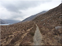 NG8705 : Stalkers' track above Loch Hourn by Richard Law