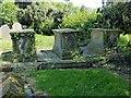 SK6515 : Beasley tombs, Thrussington churchyard by Alan Murray-Rust