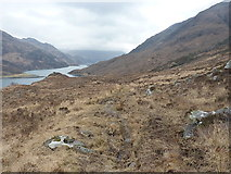 NG8805 : Stalkers' path above Loch Hourn by Richard Law