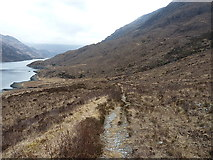 NG8806 : Stalkers' path above Loch Hourn by Richard Law