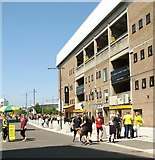 TG2407 : Match day at Carrow Road by Evelyn Simak