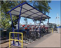 SY0081 : Double decker Cycle Parking - Exmouth Station by Betty Longbottom