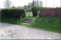 TM3569 : Steps to Peasenhall & Sibton Bowling Green & Tennis Courts by Geographer