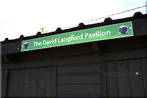 TM3569 : The David Langford Pavilion sign by Geographer