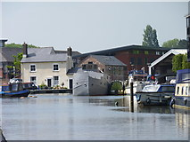 SO8453 : Lock Cottage at Diglis Basin, Worcester by Jeff Gogarty