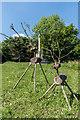 TQ2856 : Deer sculptures by Ian Capper