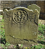 ST7581 : Old Headstone, St John the Baptist Churchyard, Old Sodbury, Gloucestershire 2017 by Ray Bird