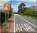SO1730 : Warning sign - bend ahead, Pengenffordd, Powys by Jaggery