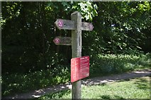 SK2071 : Fingerpost on the path by Bob Harvey