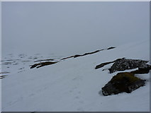 NN3238 : Snow lying on Am Fiaclach by Richard Law