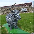 NJ8611 : Metal Cattle (4) by Anne Burgess