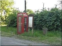 TL3251 : Phone box on Ermine Way, Arrington by David Howard