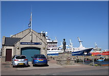 NJ9967 : Fraserburgh lifeboat station and memorial by Bill Harrison