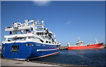 NJ9967 : Big boats at Fraserburgh by Bill Harrison