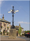 SE2443 : The cross in Bramhope by Stephen Craven
