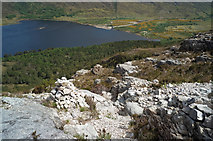 NG9964 : Cairns for marking the Mountain Trail by Julian Paren