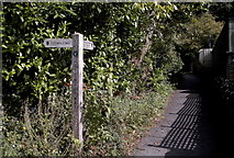 ST7581 : Cotswold Way Signpost, Old Sodbury, Gloucestershire 2011 by Ray Bird
