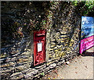 SX2553 : King George VI postbox in a Station Road wall, Looe by Jaggery