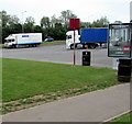 ST1920 : Nagel-Group lorry in Taunton Deane Services Southbound by Jaggery