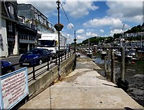 SX2553 : Slipway into Looe Harbour by Jaggery