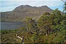 NG9964 : Descending to Loch Maree on the Mountain Trail by Julian Paren