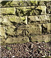 SP1080 : OS benchmark - Yardley Wood, wall on Highfield Road by Richard Law