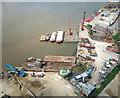 TQ3980 : A Riverside Wharf From Above by Des Blenkinsopp