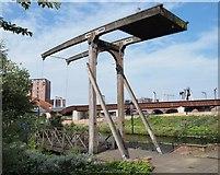 SJ8298 : Lift Bridge by Steve Houldsworth
