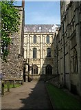 TG2308 : Path past the north side of Norwich Cathedral by Evelyn Simak