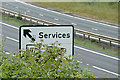 TM1840 : Roadsign on the A14 at Woolverstone by Adrian Cable