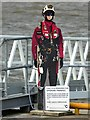 TA2810 : Safety mannequin beside the pier by Graham Hogg