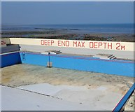 J3730 : The Deep End of the Rock Outdoor Swimming Pool by Eric Jones