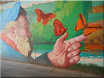 NS5574 : Part of mural, Gavin's Mill underpass by Richard Sutcliffe