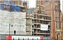 J3372 : Repair work, Queen's University, Belfast - June 2018(1) by Albert Bridge