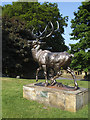 SE1535 : Stag sculpture in Lister Park  by Stephen Craven