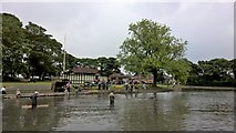 NZ2567 : Paddy Freemans Park lake by Chris Morgan