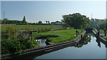 SO8690 : Hinksford Lock and its circular bypass weir by Christine Johnstone