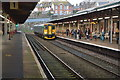 SX9473 : Local train pulling into Teignmouth Station by N Chadwick