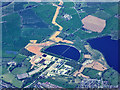 SP0080 : Frankley Reservoir (aerial) by David Dixon