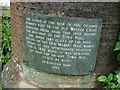 SP3127 : Plaque on a column in Chipping Norton by Philip Halling