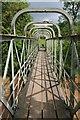 SO5567 : Footbridge crossing the River Teme by Philip Halling