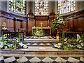 SJ8398 : St Ann's Church, Altar and East Window by David Dixon