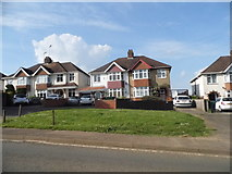 SP4441 : Houses on Warwick Road, Banbury by David Howard