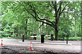 SP8908 : The Twin Exit Barriers at Wendover Woods by Chris Reynolds