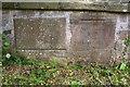 SE2590 : Bridge plaque on Kirk Bridge by Roger Templeman