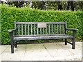 TM5491 : Memorial seat in Kirkley Bowls Green by Adrian S Pye