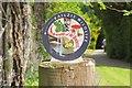NT2838 : Wildlife waymark, Kailzie by Jim Barton